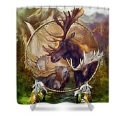 Spirit Of The Moose Shower Curtain