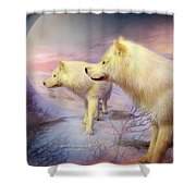 Spirit Of The White Wolf Shower Curtain