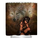 Spirit Of The Wolf 02 Shower Curtain