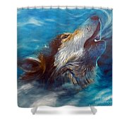 Spirit Of The Wolf Shower Curtain