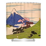 Spirit Of Ukiyo-e In The Light Of Shinto Shower Curtain