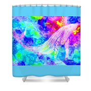 Spirit Whale 3 Shower Curtain