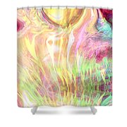 Spirits Of The Sun Shower Curtain by Linda Sannuti