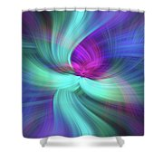 Spiritual Freedom. Mystery Of Colors Shower Curtain