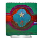 Spiritual Green Shower Curtain