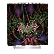 Spiritual Mask Shower Curtain