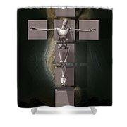 Spiritual Prototype Artificial Shower Curtain