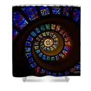 Spiritual Spiral Shower Curtain by Inge Johnsson