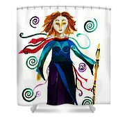 Spiritual Warrior Shower Curtain