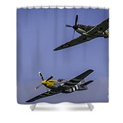 Spitfire And Mustang Shower Curtain