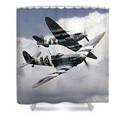 Spitfire Flying Legends Shower Curtain
