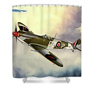 Spitfire Shower Curtain by Marc Stewart