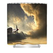 Spitfire Shower Curtain by Meirion Matthias