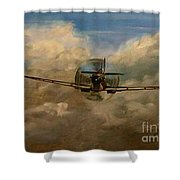Spitfire Mk19 1945 Warbird - Dedicated To My Closest Friend Melody Lasola 08 08 83 - 25 10 09 Shower Curtain