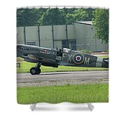 Spitfire On The Ground Shower Curtain