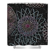 Spirograph 1010 Shower Curtain