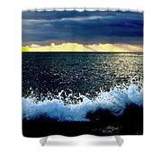 Splash At Sunset Shower Curtain