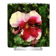 Splash Cerise Shower Curtain