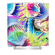 Splash Of Color Abstract Shower Curtain