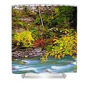 Splash Of Color Along The Creek Shower Curtain