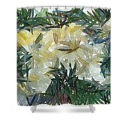 Splash Of Color In A Garden Shower Curtain