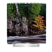Splash Of Fall Color Shower Curtain