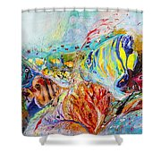 Splash Of Life #14 Red Sea  Shower Curtain