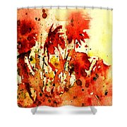 Splash Of Red Shower Curtain