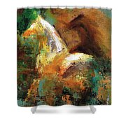 Splash Of White Shower Curtain