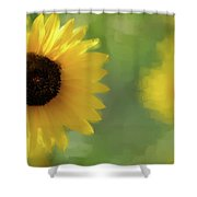 Splash Of Yellow Shower Curtain