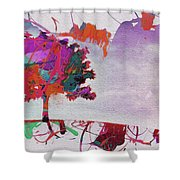 Splash Tree Art  Shower Curtain