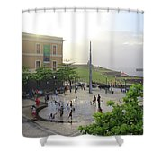 Splashing In Old San Juan Shower Curtain