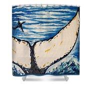 Ocean Tail Shower Curtain