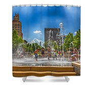 Splashville Of Asheville Shower Curtain