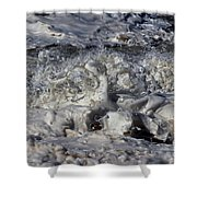 Splashy Incantations Of A Momenary Water Sculpture Shower Curtain