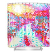Splat In Italian Silk Shower Curtain