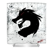 Splat O Dragon Shower Curtain