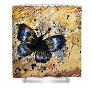 Splatter Butterfly Shower Curtain