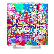 Splatter Paint Shower Curtain