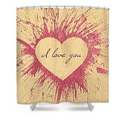Splattered Love Shower Curtain