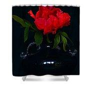 Splendid Peony In Vase. Shower Curtain