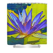 Splendid Water Lily Shower Curtain