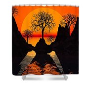 Splintered  Sunlight Shower Curtain