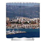 Split Croatia's Waterfront Shower Curtain