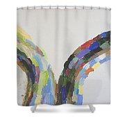 Split Decision Shower Curtain