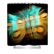 Split Personality Shower Curtain