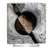 Split Pothole, River Coupall, Scotland Shower Curtain