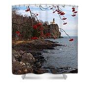 Split Rock Berries Shower Curtain