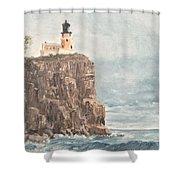 Split Rock Light House 4  Shower Curtain