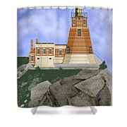 Split Rock Lighthouse On The Great Lakes Shower Curtain